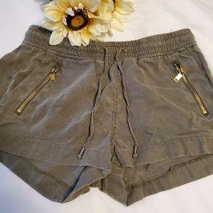 Army Green Drawstring Shorts